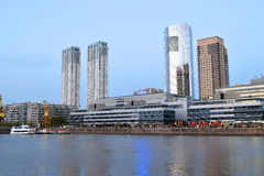 Buenos Aires - December 2, 2015: Day light view of Puerto Madero Royalty Free Stock Photo