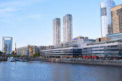 Buenos Aires - December 2, 2015: Day light view of Puerto Madero Royalty Free Stock Image