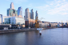 Buenos Aires - December 2, 2015: Day light view of Puerto Madero Stock Photo