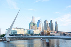 Buenos Aires - December 2, 2015: Day light view of Puerto Madero Royalty Free Stock Photos
