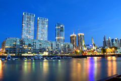 Buenos Aires - December 2, 2015: Night view of Puerto Madero Royalty Free Stock Images