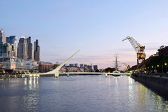 Buenos Aires - December 2, 2015: Night view of Puerto Madero Royalty Free Stock Photography