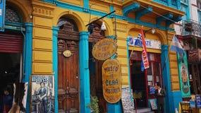 Buenos Aires, distretto di EL Caminito del punto di riferimento fotografie stock