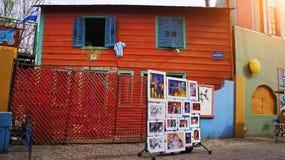 Buenos Aires, distretto di EL Caminito del punto di riferimento immagini stock