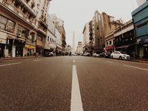Buenos Aires. Downtown of Buenos Aires and the obelisk royalty free stock photos