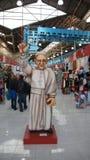 Buenos Aires - EL Caminito, estatua del papa Imagen de archivo libre de regalías