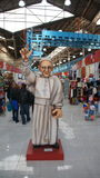 Buenos Aires - EL Caminito, statue de pape Image libre de droits