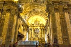 BUENOS AIRES, el 20 de enero de 2016 - catedral del metropolitano de Buenos Aires Imágenes de archivo libres de regalías