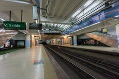BUENOS AIRES, el 20 de enero de 2016 - estación de metro de Jose Hernandez Imagen de archivo
