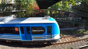 Buenos Aires Electric Train Leaving the Station stock image