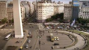 Buenos Aires et l'obélisque banque de vidéos