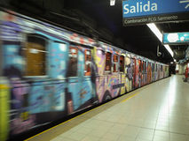 Buenos Aires gammal gångtunnel Arkivfoto