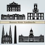 Buenos Aires gränsmärken och monument royaltyfri illustrationer