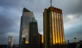 Buenos Aires Highrise. Sunset in Buenos Aires, Argentina Royalty Free Stock Images