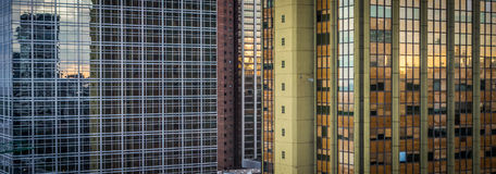 Buenos Aires Highrise Wide. Downtown Buenos Aires Highrise Buildings, Argentina Royalty Free Stock Photos