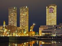 Buenos Aires horisont på natten Arkivfoton