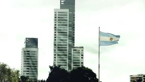 Buenos Aires i en Windy Day lager videofilmer