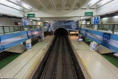 BUENOS AIRES, il 20 gennaio 2016 - stazione della metropolitana di Jose Hernandez Fotografia Stock