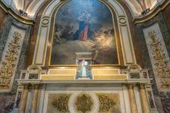 BUENOS AIRES, 20 JANUARI, 2016 - de Metropolitaanse Kathedraal van Buenos aires Royalty-vrije Stock Afbeelding