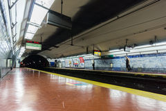 BUENOS AIRES, JANUARY 20, 2016 - Aguero subway station Royalty Free Stock Photography