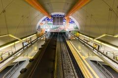 BUENOS AIRES, JANUARY 30, 2016 - Cordoba subway station Royalty Free Stock Image