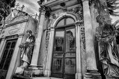 BUENOS AIRES, JANUARY 30, 2016 - La Recoleta Cemetery, located in the Recoleta neighborhood Royalty Free Stock Images