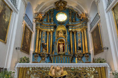BUENOS AIRES, JANUARY 2, 2016 - Shrine inside Catholic church, Buenos Aires, Argentina Stock Photography