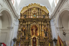 BUENOS AIRES, JANUARY 13, 2016 - Shrine inside Church Royalty Free Stock Photography