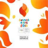 Buenos Aires 2018, Jogos Olímpicos da juventude do verão ilustração do vetor