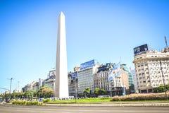 BUENOS AIRES - L'ARGENTINA: L'obelisco a Buenos Aires, Argentina Fotografia Stock Libera da Diritti