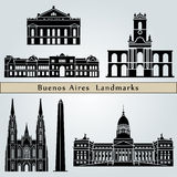 Buenos Aires landmarks and monuments Royalty Free Stock Photos