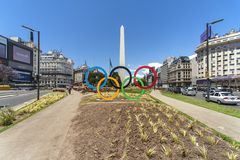 Buenos Aires miasta uliczny życie obraz royalty free
