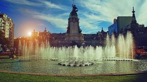Buenos Aires, National Congress building. On a bright sunny day Stock Photos