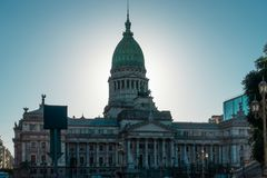 Buenos Aires, Nationalkongressgebäude stockbild