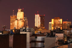 Buenos Aires at night Royalty Free Stock Image