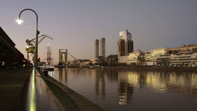 Buenos Aires night skyline. Buenos Aires night skyline in Puerto Madero Stock Image