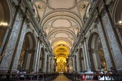 BUENOS AIRES, o 20 de janeiro de 2016 - catedral do metropolita de Buenos Aires Fotos de Stock Royalty Free