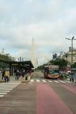 Buenos Aires obelisk Arkivfoton