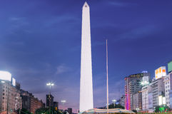 Buenos Aires Obelisk Stock Images