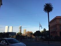 Buenos Aires på gryning på en kall vinterdag fotografering för bildbyråer