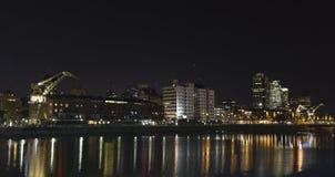 Buenos Aires por noche Foto de archivo libre de regalías