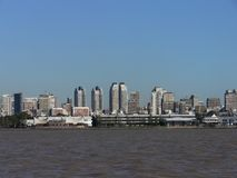 Buenos aires from the river Royalty Free Stock Image