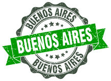 Buenos Aires round seal Stock Photography