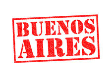 BUENOS AIRES. Rubber Stamp over a white background royalty free stock image