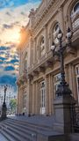 Buenos Aires, sławny Okrężnicowy teatru Teatro dwukropek obrazy royalty free
