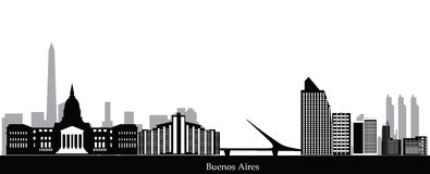Buenos aires skyline Stock Photography