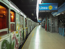 Buenos Aires Stary metro obrazy royalty free