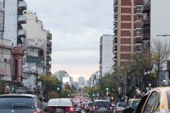 Buenos aires street traffic jam Stock Photos