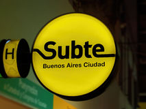 Buenos Aires Subway sign Stock Photo