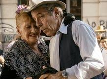 Buenos Aires tangodansare - Pochi och Osvaldo Royaltyfri Bild